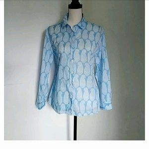 FRENCH CURVE | Paisley Blue and White Summer Shirt